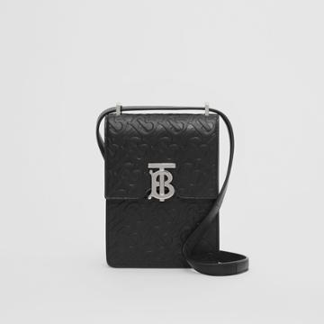 Burberry Burberry Monogram Leather Robin Bag, Black