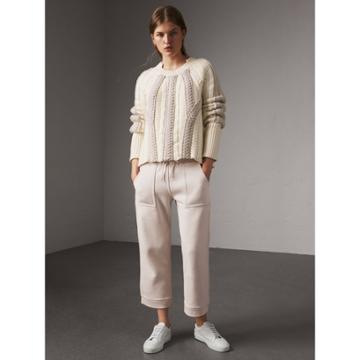 Burberry Burberry Cropped Jersey Sweatpants, White