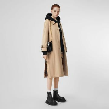Burberry Burberry Side-slit Tropical Gabardine Trench Coat, Size: 08, Yellow