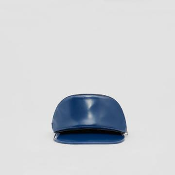 Burberry Burberry Vinyl Visor With Detachable Zip Pocket, Size: M