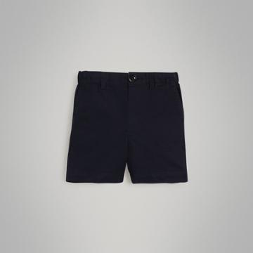 Burberry Burberry Childrens Cotton Twill Shorts, Size: 12m, Blue