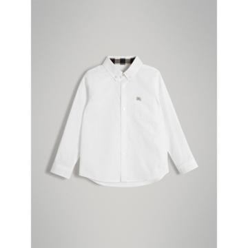Burberry Burberry Childrens Cotton Button-down Collar Shirt, Size: 10y, White