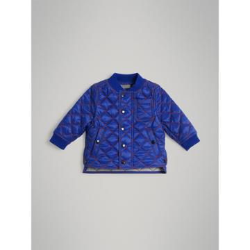 Burberry Burberry Childrens Topstitched Quilted Jacket, Size: 3y, Blue