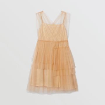 Burberry Burberry Childrens Tulle Tiered Dress, Size: 10y, Beige