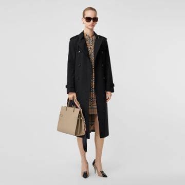 Burberry Burberry The Long Waterloo Heritage Trench Coat, Size: 06, Black