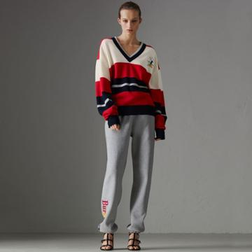Burberry Burberry Reissued Striped Lambswool Sweater, Size: Xxs, Red