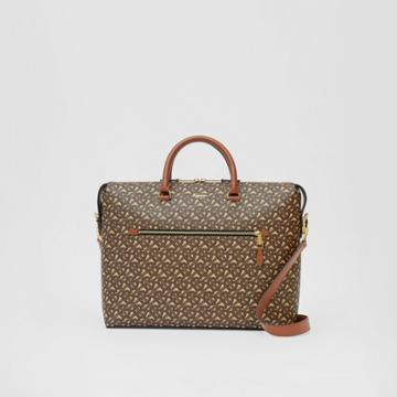 Burberry Burberry Monogram E-canvas Briefcase, Brown