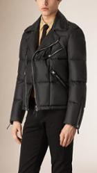 Burberry Down Quilted Biker Jacket