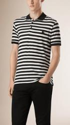 Burberry Striped Cotton Polo Shirt