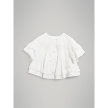 Burberry Burberry Smocked Cotton Shirt, Size: 4y