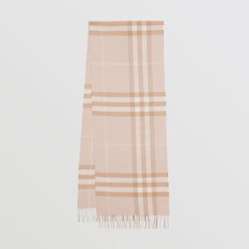 Burberry Burberry The Classic Check Cashmere Scarf, Blush