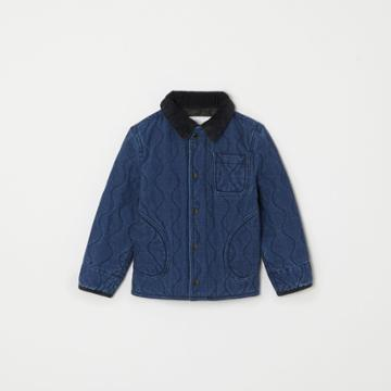 Burberry Burberry Childrens Quilted Denim Jacket, Size: 10y, Blue