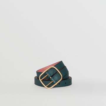 Burberry Burberry Double-strap Leather Belt, Size: 100, Blue