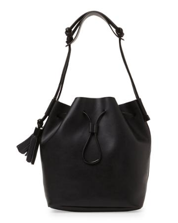 Vince Camuto Black Lorin Bucket Bag
