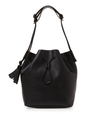 Vince Camuto Black Lorin Bucket Bag