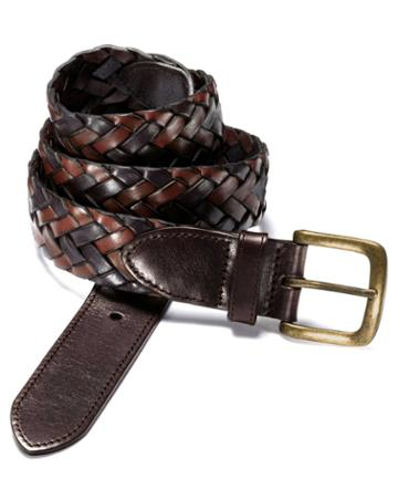Brown Casual Plait Belt Size 40 By Charles Tyrwhitt