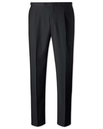 Black Classic Fit Tuxedo Wool Pants Size W32 L32 By Charles Tyrwhitt
