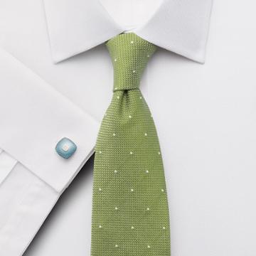 Charles Tyrwhitt Classic Fit Egyptian Cotton Puppytooth White Dress Shirt Single Cuff Size 15.5/37 By Charles Tyrwhitt