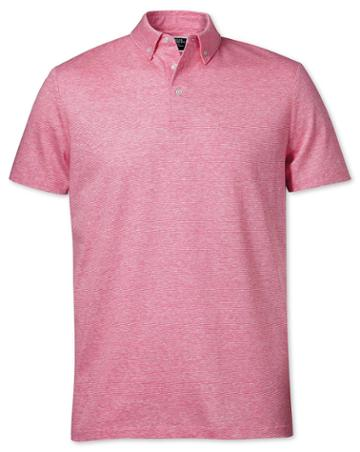 Pink Cotton Linen Polo Size Large By Charles Tyrwhitt