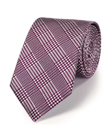 Charles Tyrwhitt Berry Silk Classic Prince Of Wales Checkered Tie By Charles Tyrwhitt