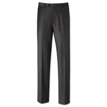 Charles Tyrwhitt Grey Classic Fit Flannel Wool Tailored Pants Size W34 L32 By Charles Tyrwhitt