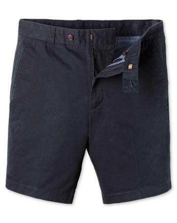 Navy Chino Cotton Shorts Size 30 By Charles Tyrwhitt