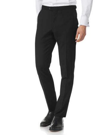 Black Extra Slim Fit Dinner Suit Wool Pants Size W30 L38 By Charles Tyrwhitt