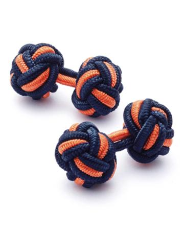 Charles Tyrwhitt Navy And Orange Knot Cufflinks By Charles Tyrwhitt