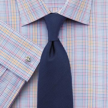 Charles Tyrwhitt Classic Fit Multi Check Egyptian Cotton Dress Casual Shirt Single Cuff Size 16.5/33 By Charles Tyrwhitt