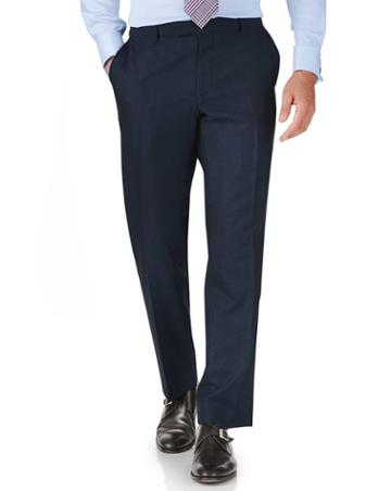 Charles Tyrwhitt Blue Classic Fit British Panama Luxury Suit Wool Pants Size W32 L30 By Charles Tyrwhitt