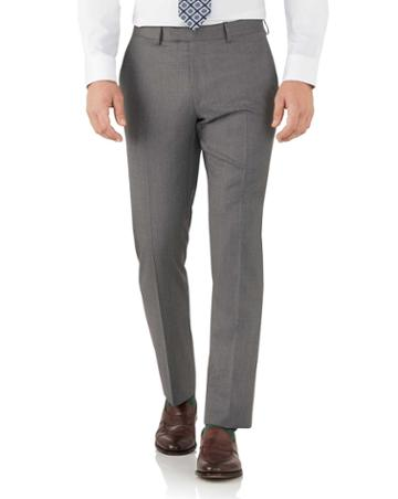 Charles Tyrwhitt Grey Slim Fit Italian Suit Wool Pants Size W30 L38 By Charles Tyrwhitt