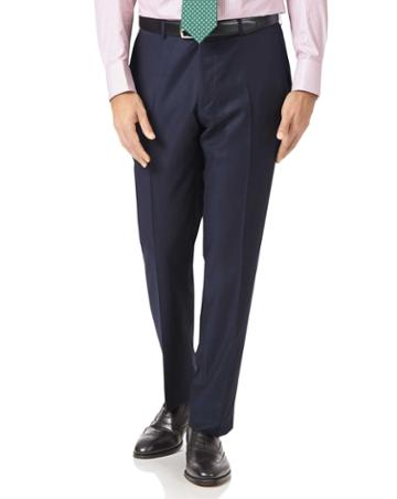 Charles Tyrwhitt Navy Slim Fit Luxury Italian Suit Wool Pants Size W30 L38 By Charles Tyrwhitt