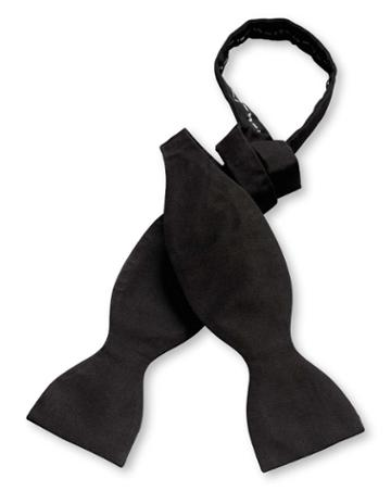Black Silk Barathea Self-tie Bow Tie By Charles Tyrwhitt