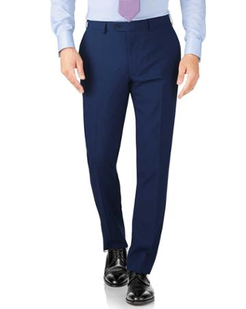Charles Tyrwhitt Royal Slim Fit Crepe Business Suit Wool Pants Size W30 L38 By Charles Tyrwhitt