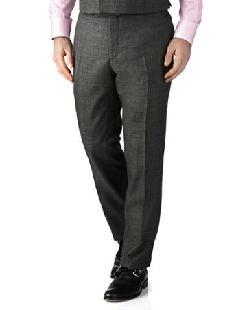 Charles Tyrwhitt Dark Grey Slim Fit Morning Suit Pants Size 34/32 By Charles Tyrwhitt