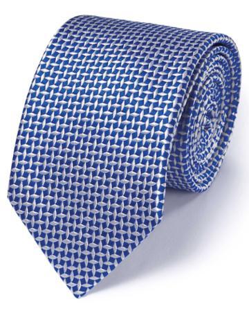 Charles Tyrwhitt Royal Silk Diamond Lattice Classic Tie By Charles Tyrwhitt