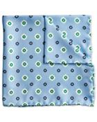 Sky Printed Floral Classic Silk Pocket Square By Charles Tyrwhitt