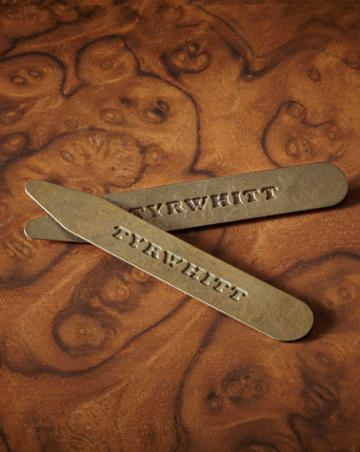 3 Pack Solid Brass Classic Collar Stays By Charles Tyrwhitt