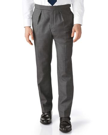 Charles Tyrwhitt Dark Grey Slim Fit Morning Suit Pants Size 34/34 By Charles Tyrwhitt