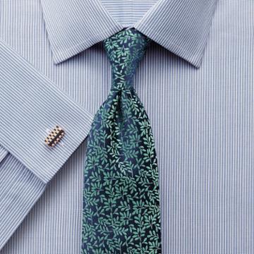 Charles Tyrwhitt Classic Fit Bengal Stripe Blue Cotton Dress Shirt French Cuff Size 15.5/37 By Charles Tyrwhitt