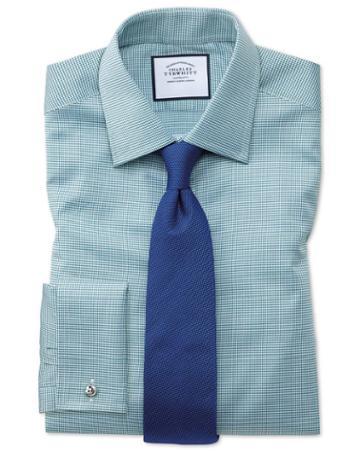 Royal Blue Silk Classic Plain Tie By Charles Tyrwhitt