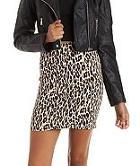 Charlotte Russe Leopard Print Bodycon Mini Skirt