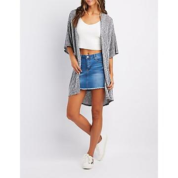 Charlotte Russe Dolman Sleeve Open-front Cardigan