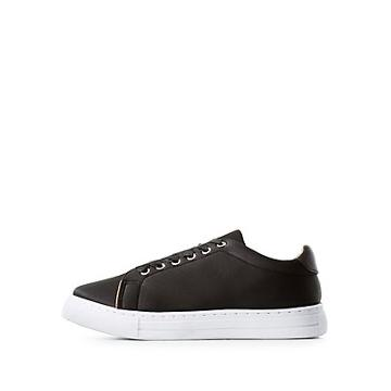 Charlotte Russe Qupid Satin Lace-up Sneakers