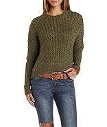 Charlotte Russe Slouchy Cropped Sweater