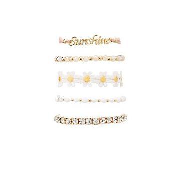 Charlotte Russe Sunshine Layering Bracelets - 5 Pack