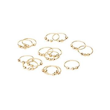 Charlotte Russe Beaded Rings & Midi Rings Set