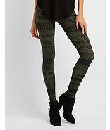 Charlotte Russe Printed Leggings