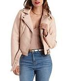 Charlotte Russe Belted Faux Leather Moto Jacket