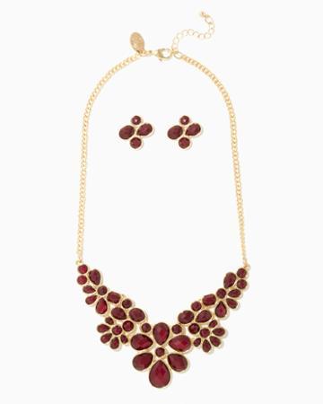 Charming Charlie Damita Floral Bib Necklace